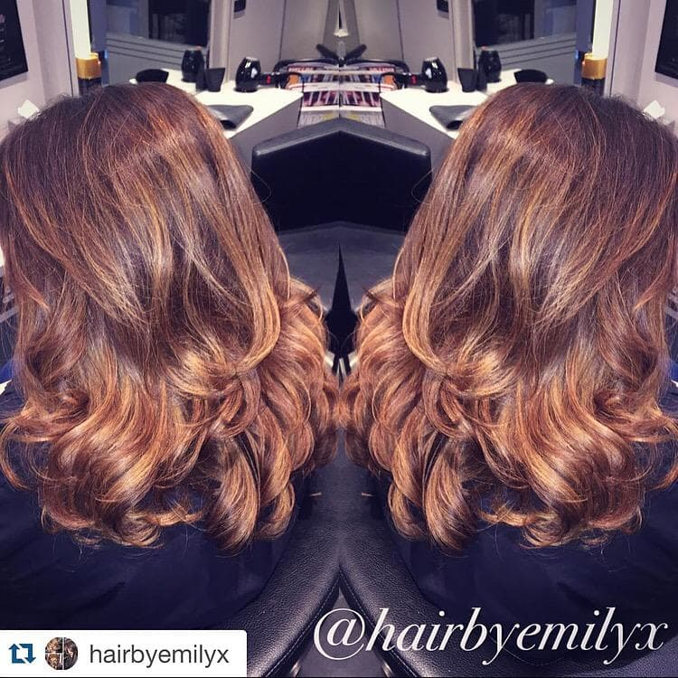 Copper Balayage and Style by Emily