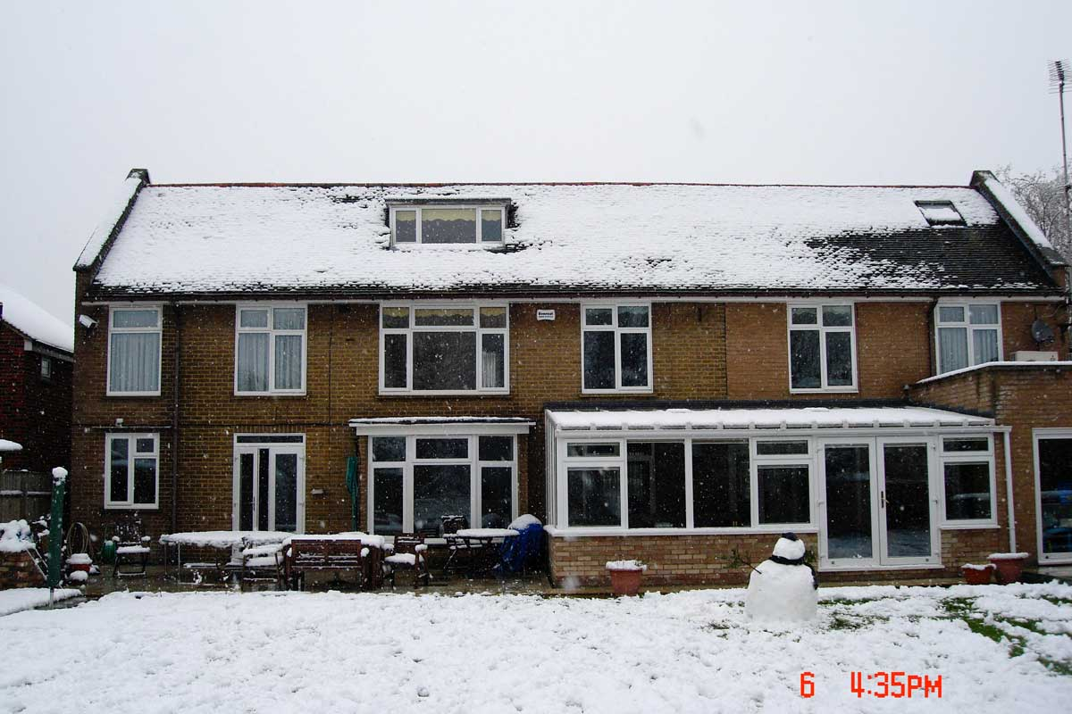 The original property before work commenced