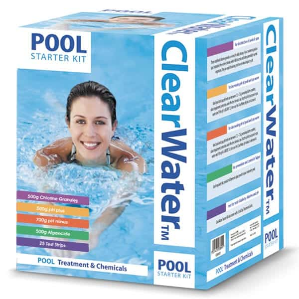 chemical swimming pool starter kit