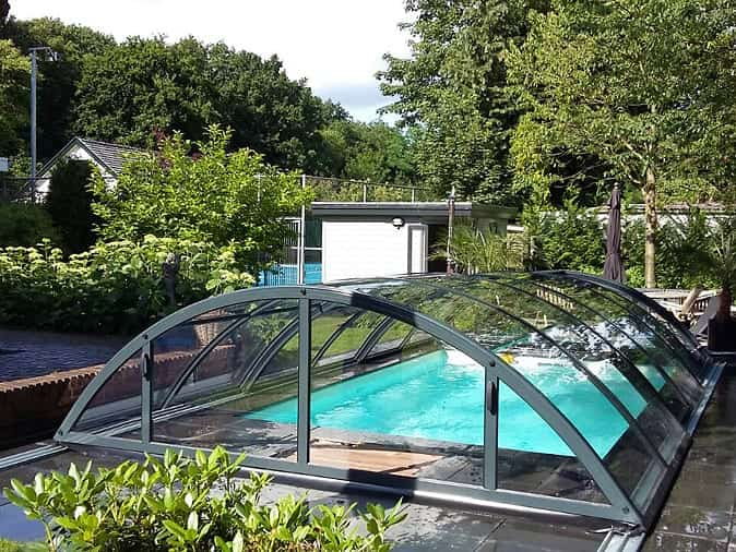 klasik clear b telescopic pool enclosure