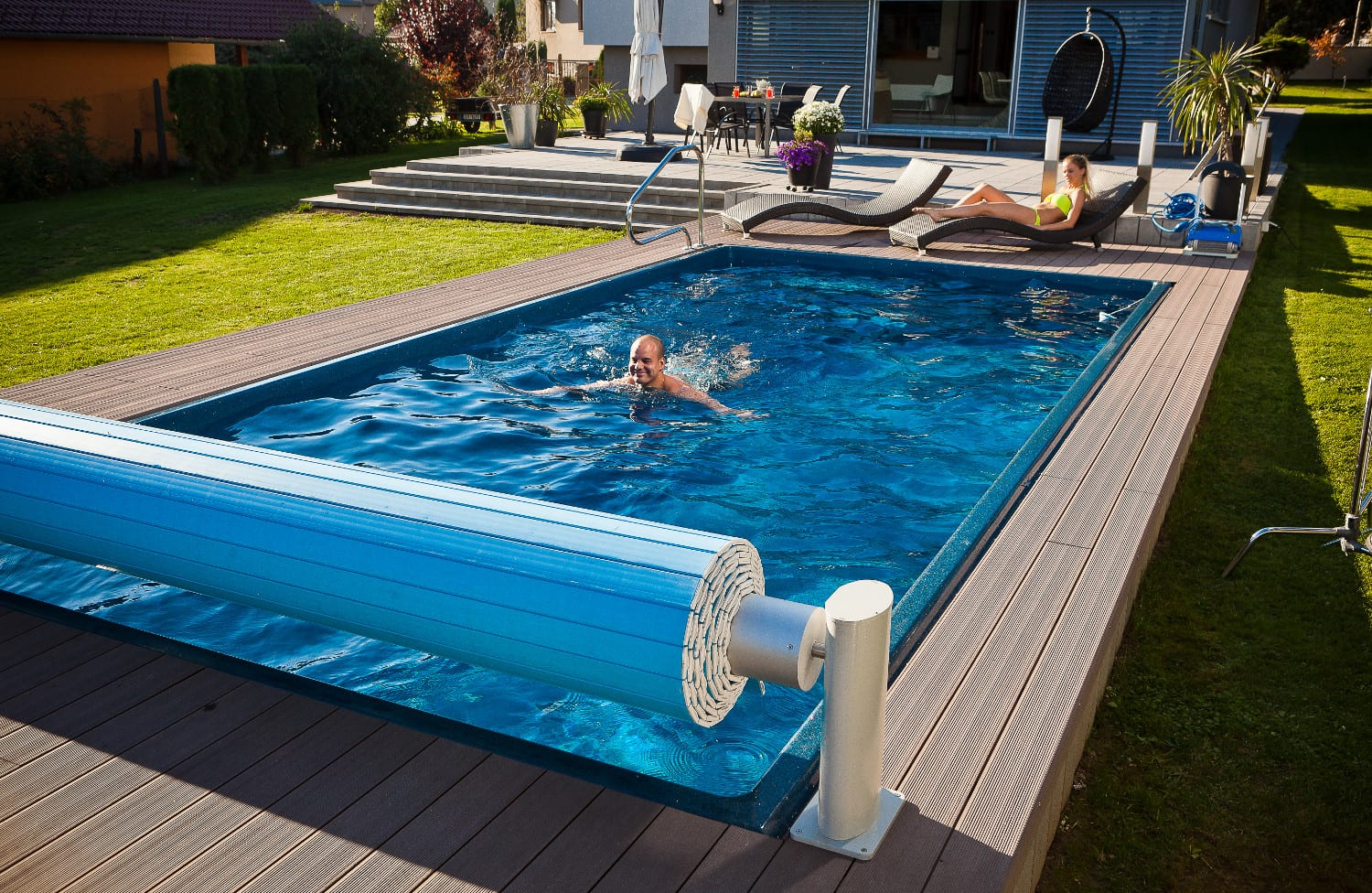 Diamant ceramic deluxe one-piece pool