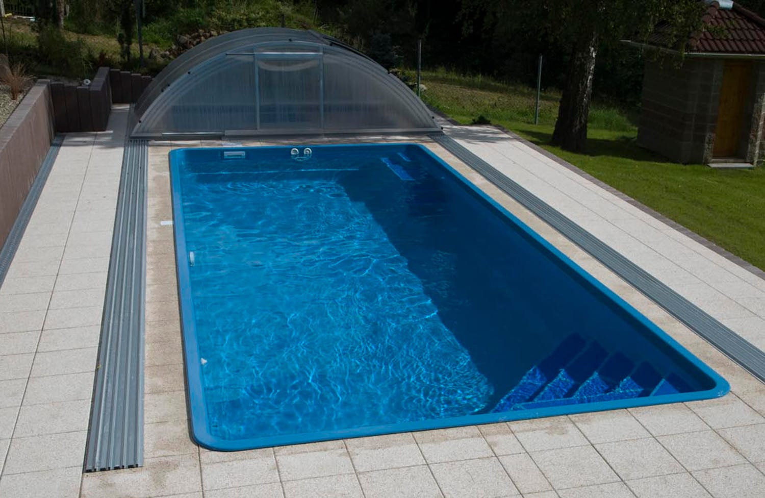 Gemini 8.20m X 3.50m X 1.50m One-Piece Fibreglass Pool