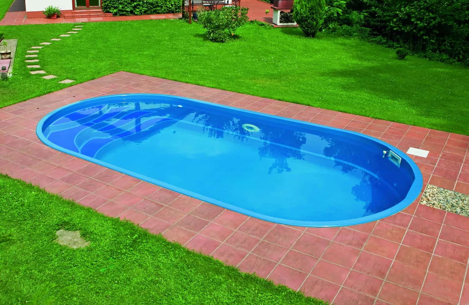 Ikaros 6.0m X 3.00m X 1.40m One Piece Fibreglass Pool