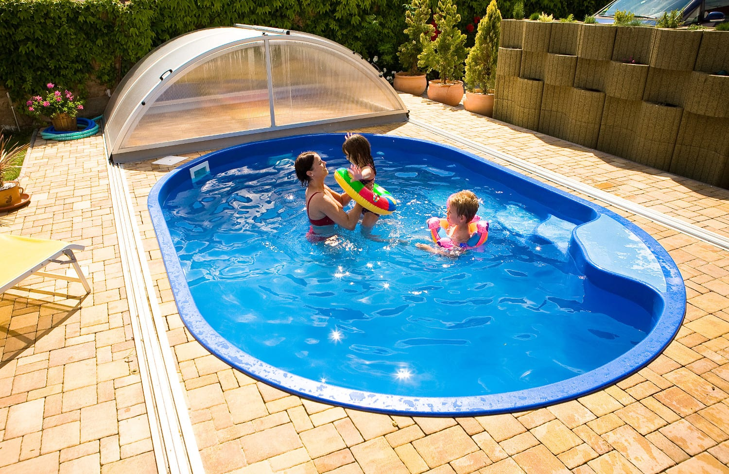 Olymp 4.50m X 3.00m X 1.20m One Piece Fibreglass Pool
