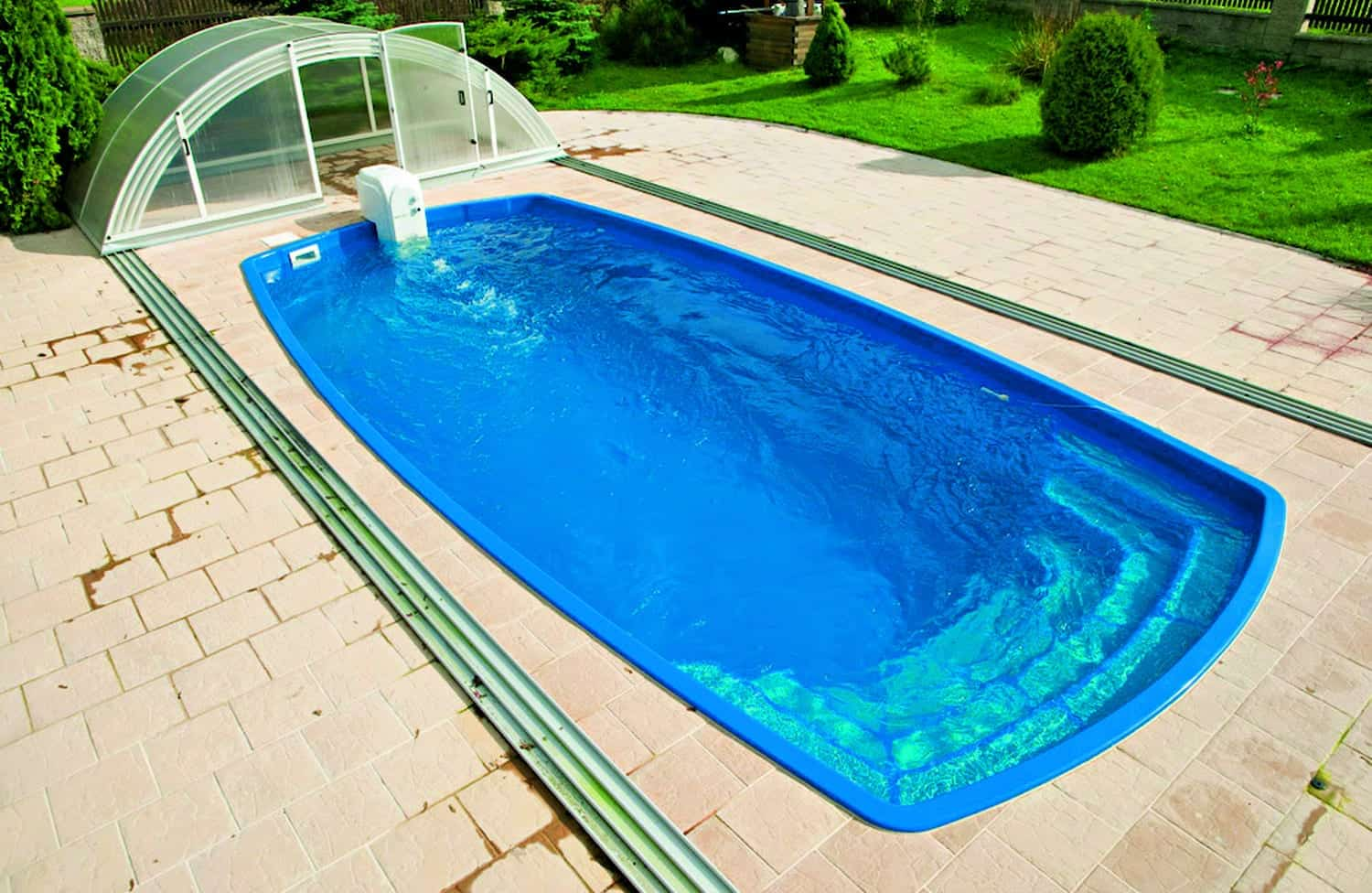 Orion 7.50m X 3.50m X 1.50m One Piece Fibreglass Swimming Pool