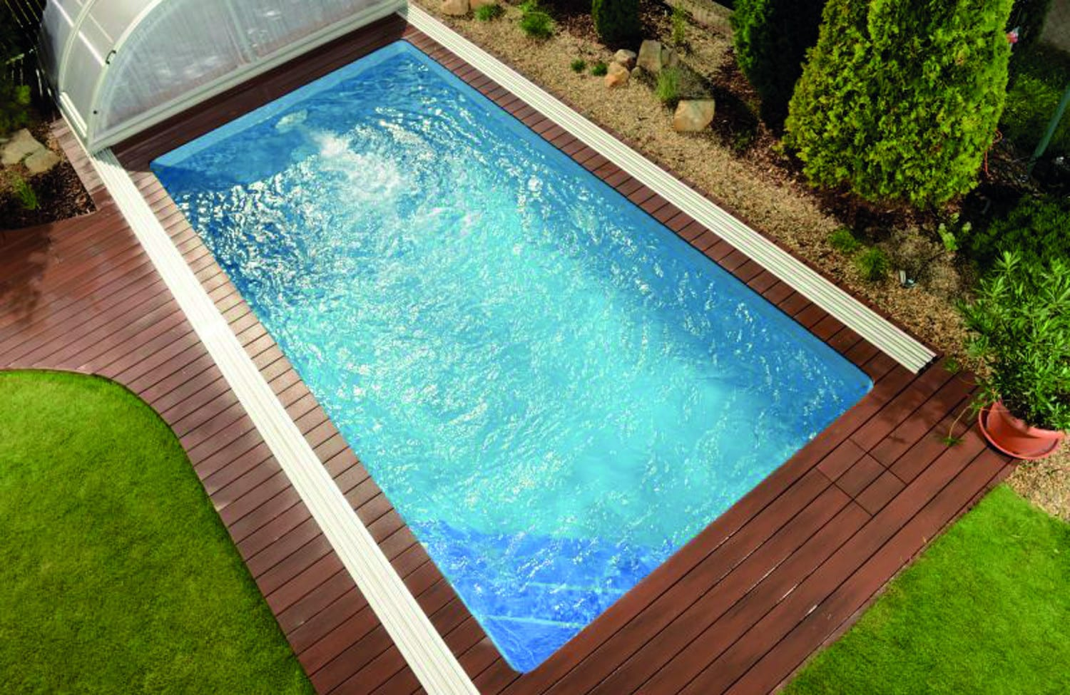 Pegas 6.20m X 3.10m X 1.40m One Fibreglass Pool