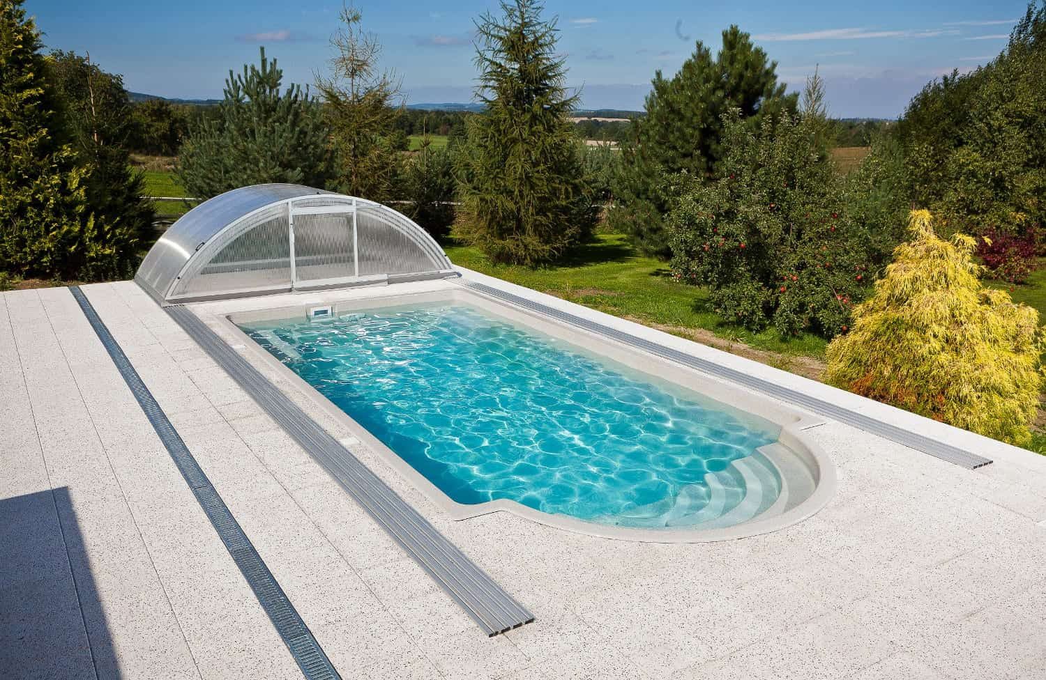Topaz compact one-piece swimming pool