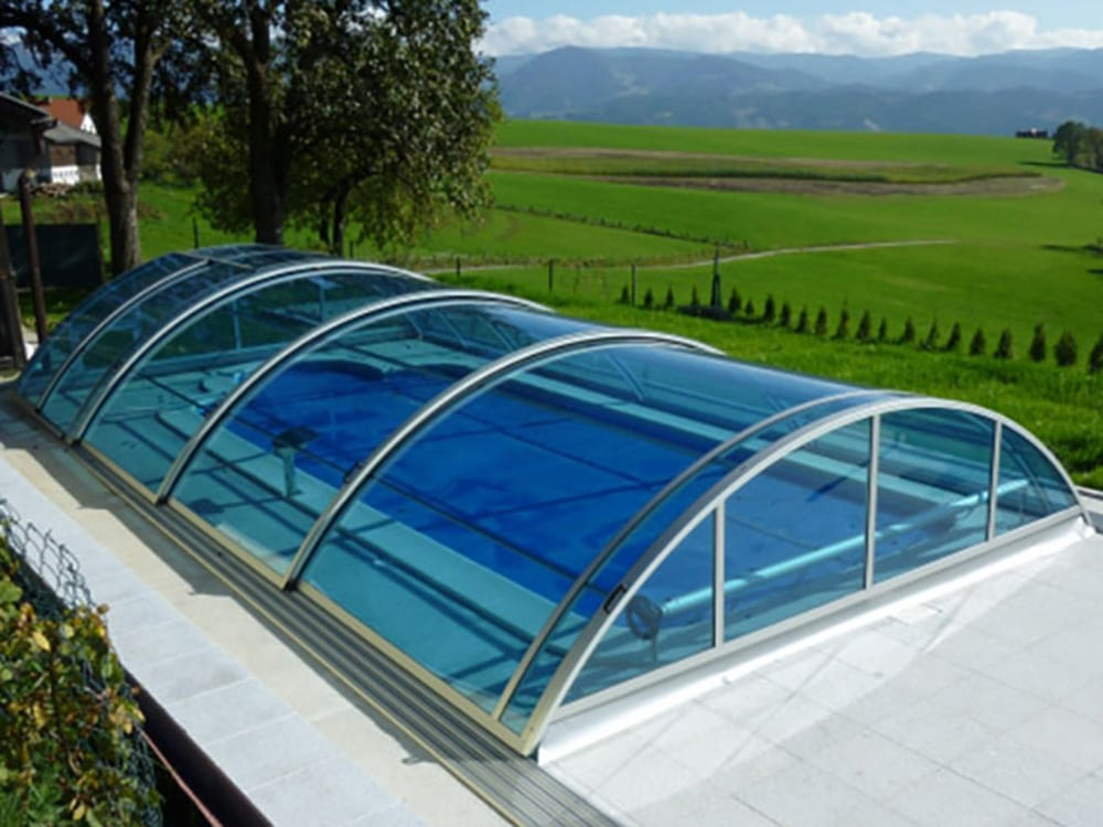 Telescopic Swimming Pool Enclosures And Domes - United Kingdom Sales