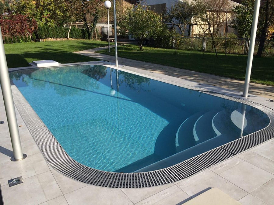 Dura Polymer OVERFLOW (Infinity Edge) Swimming Pool Package