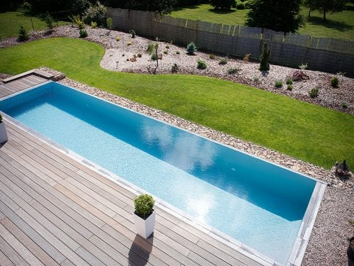 Dura Polymer Plus Unique Overflow Strong One-piece Swimming Pool G1