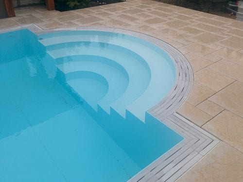 Dura Polymer Plus Unique Overflow Strong One-piece Swimming Pool G5