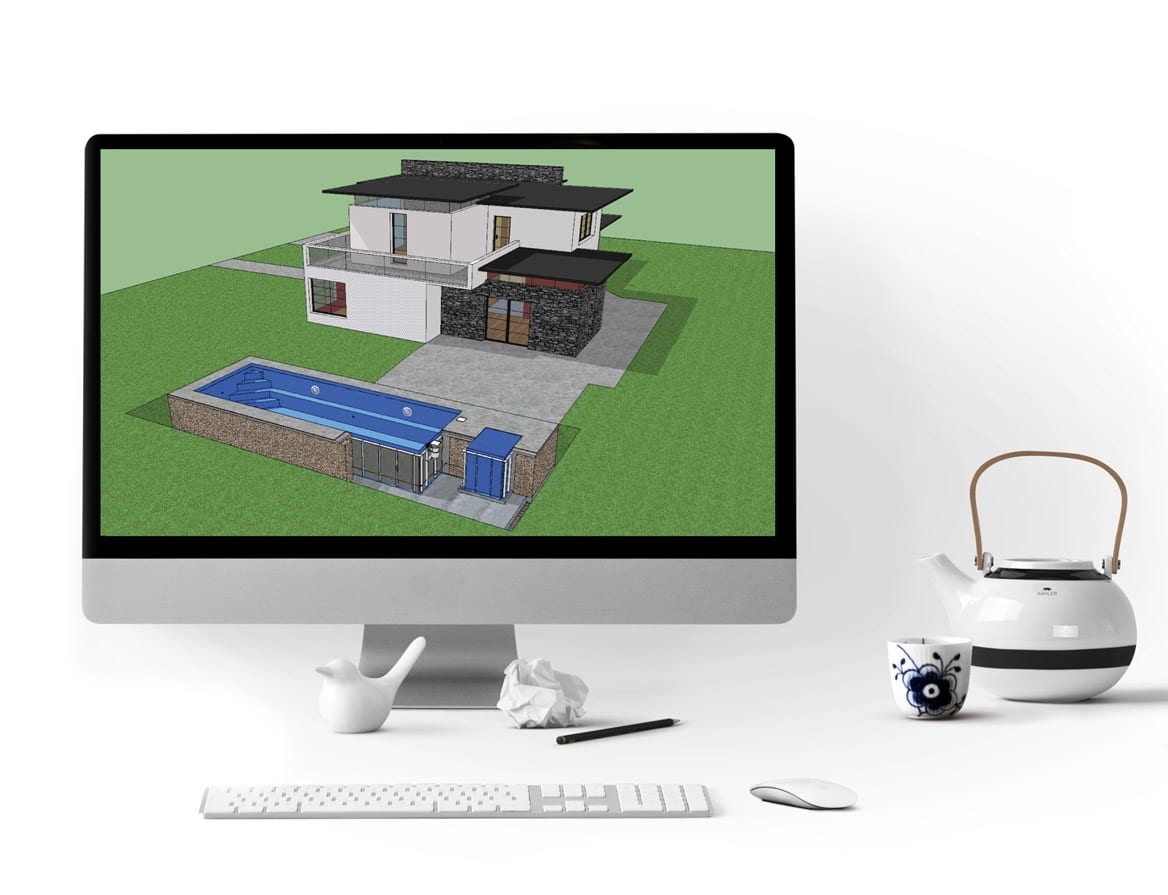 Get a free 3D model of your pool. 3D model comes with purchase of your pool so you can use it with your architects for better visualization.