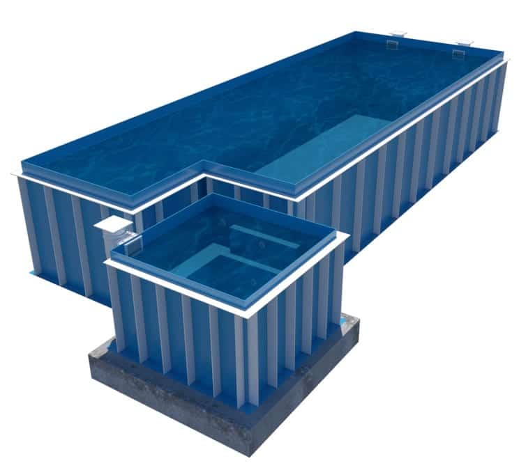skimmer combo pool and jacuzzi