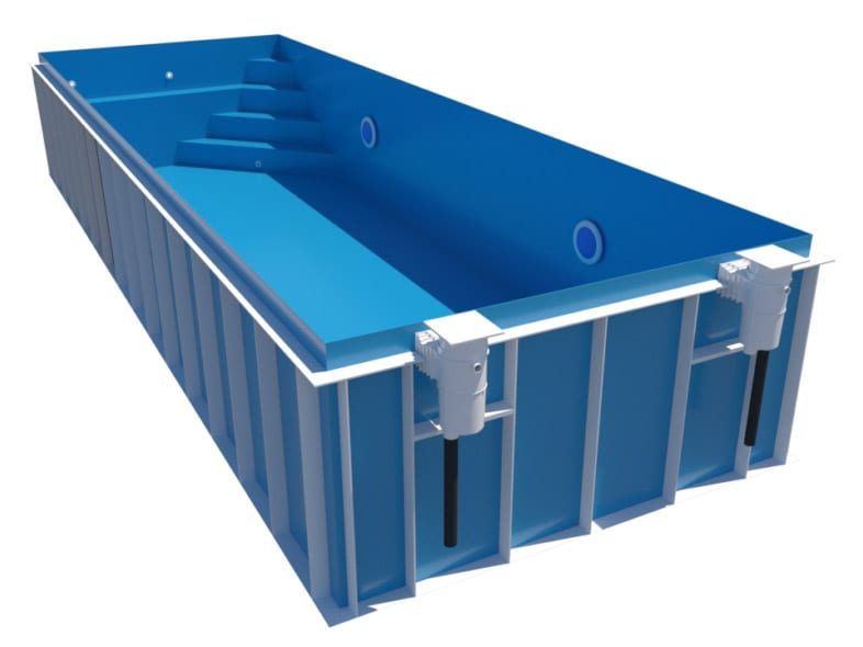 Dura Polymer Rectangle Pool With Corner Stairs