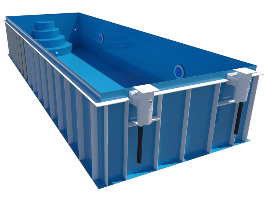 Dura Polymer Rectangle Skimmer Pool Kulate Rohy