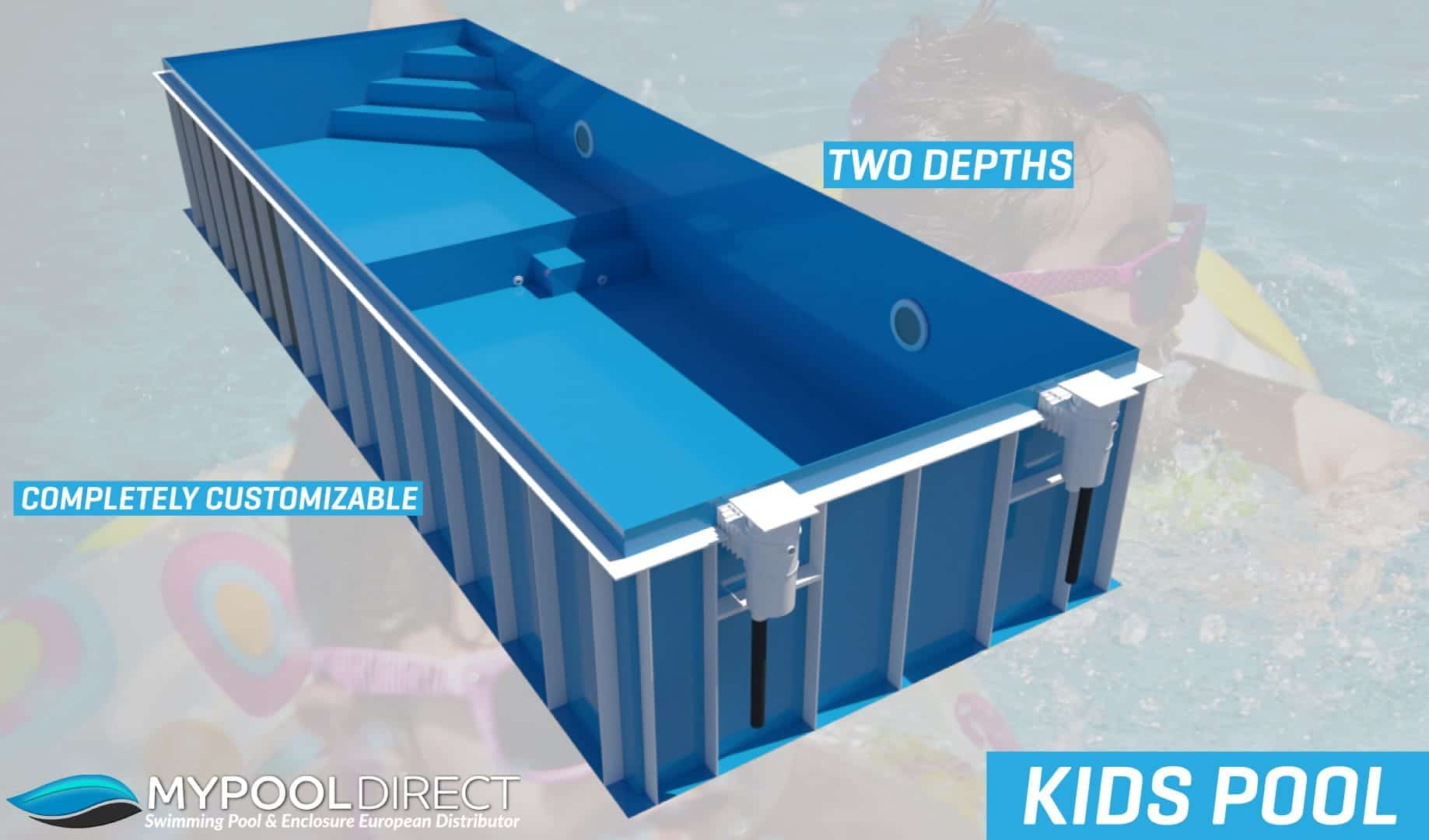 bespoke dura polymer 2 depths kids pool