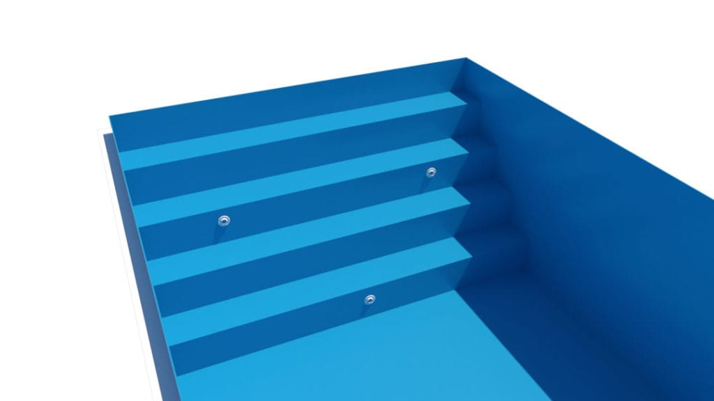 Dura Polymer Full-Width Stairs