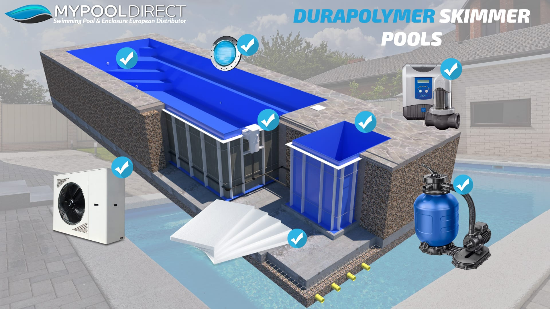 Dura Polymer Skimmer Pool Kit Items Available