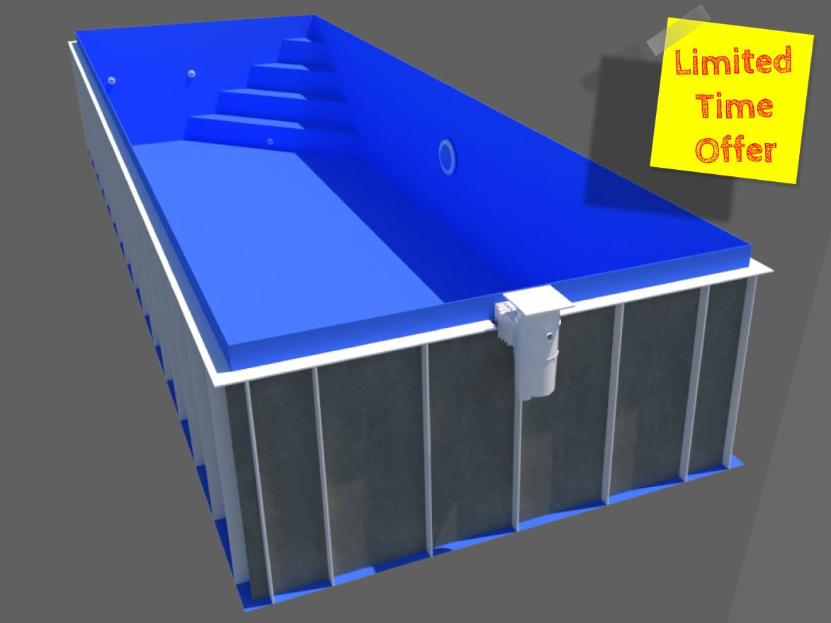 Dura Polymer Rectangle Skimmer Pool