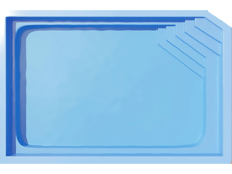 Hawaii Fibreglass Pool Plain Colours Sizes From 7m  To 10.5m