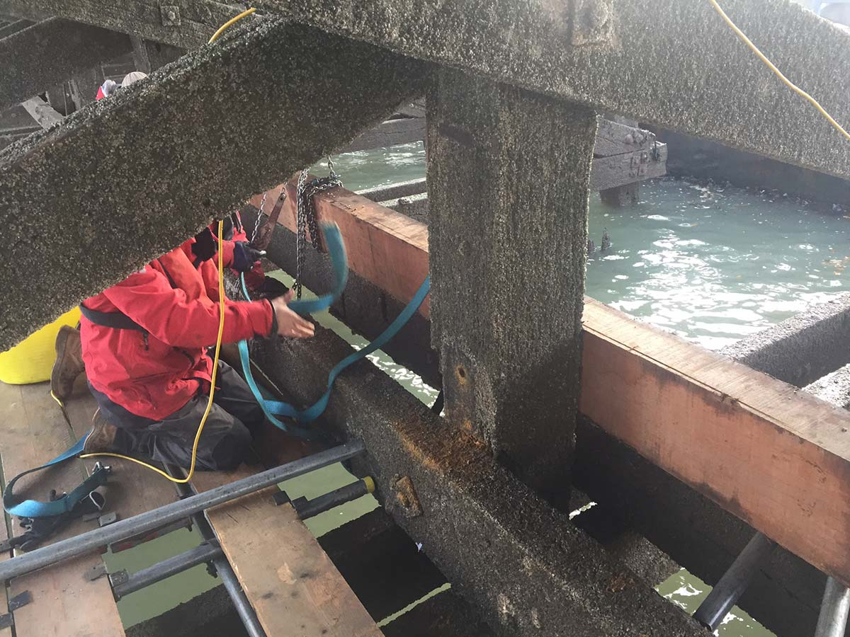 Ha'Penny Pier Timber Repairs - Phases 1